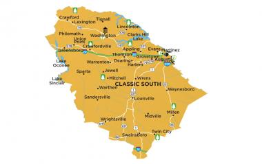 Classic South region map