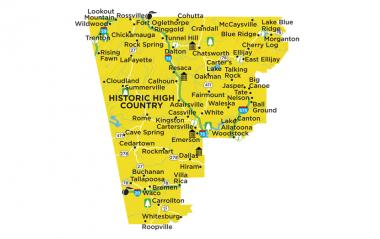 Historic High Country Region Map